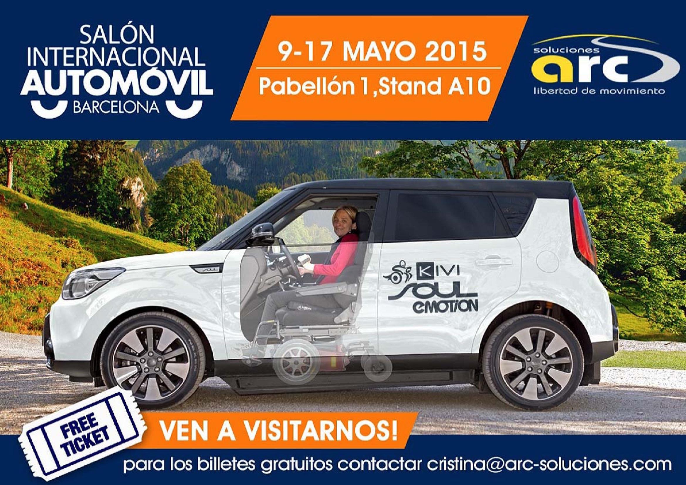 Banner publicitari ARC en el saló internacional de l'automòbil
