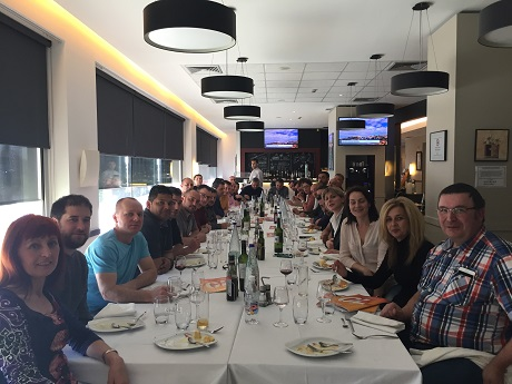Grupo ARC en la comida del curso KIVI