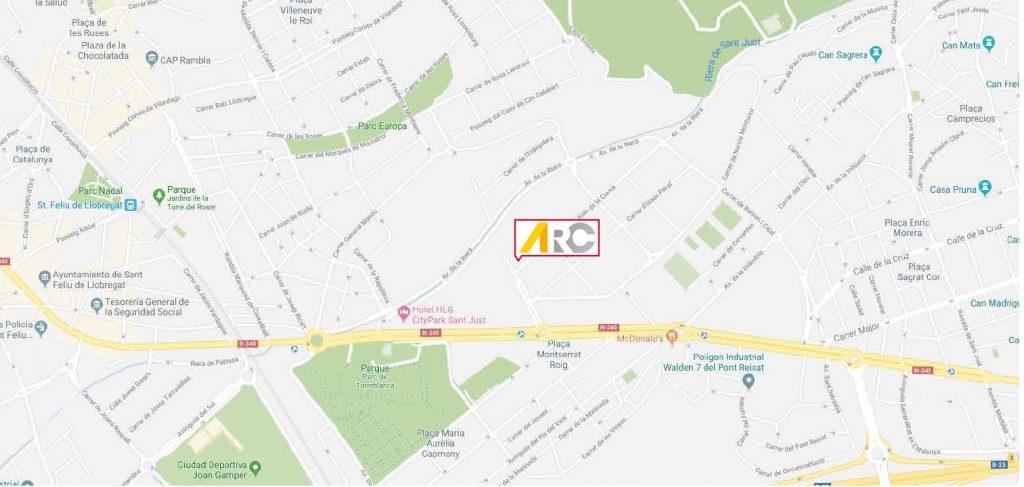 Imagen del mapa con la nueva ubicación de ARC
